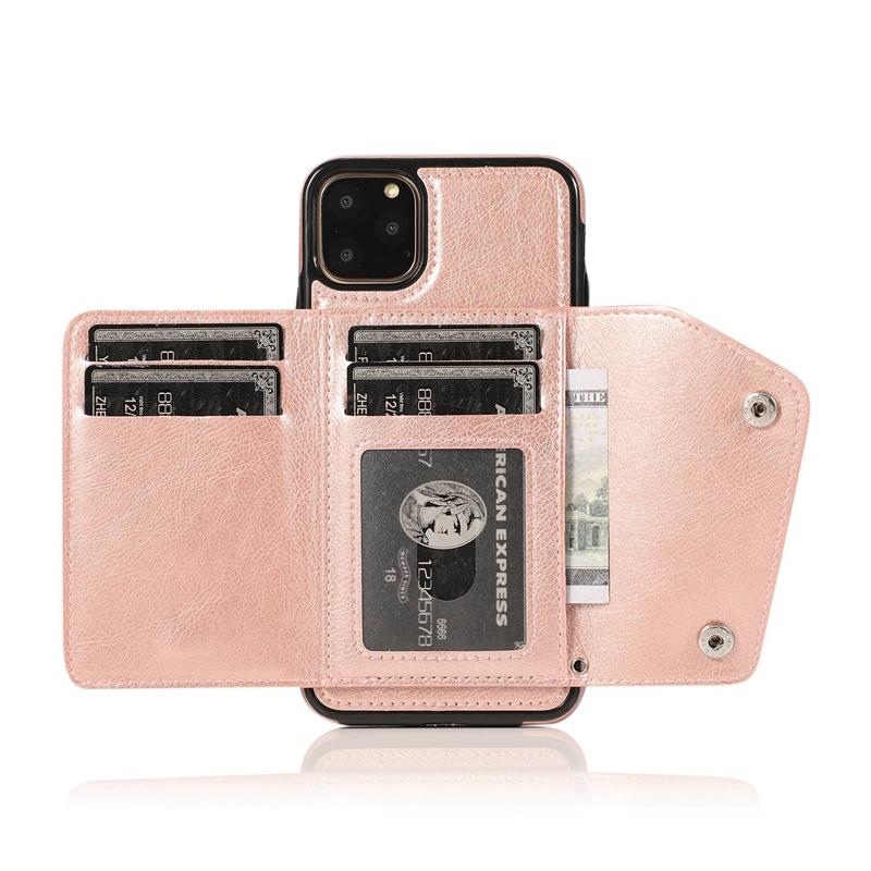 1X-pour-Iphone-11-Pro-Portefeuille-Pochette-en-Cuir-Fente-pour-Carte-de-Cre-P8H6 miniature 39