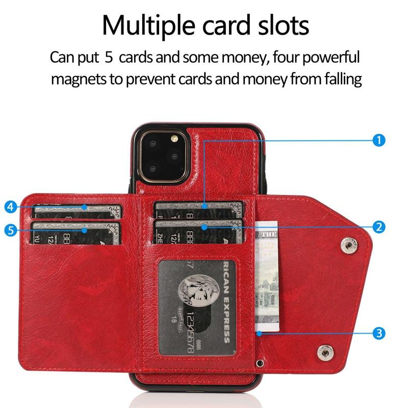 1X-pour-Iphone-11-Pro-Portefeuille-Pochette-en-Cuir-Fente-pour-Carte-de-Cre-P8H6 miniature 43