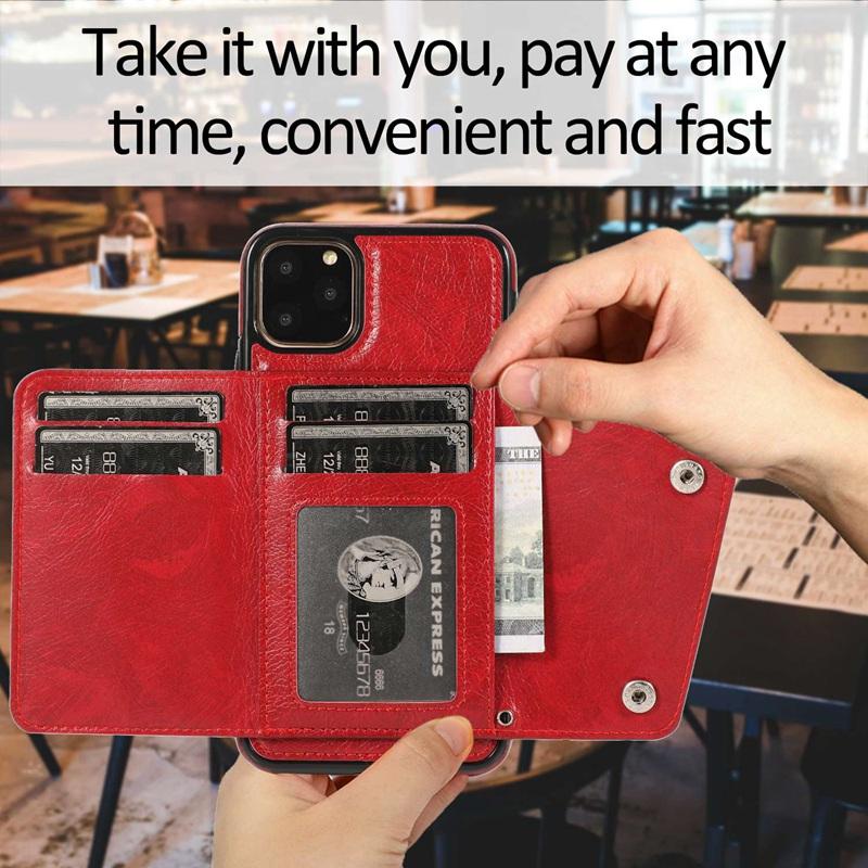 1X-pour-Iphone-11-Pro-Portefeuille-Pochette-en-Cuir-Fente-pour-Carte-de-Cre-P8H6 miniature 45