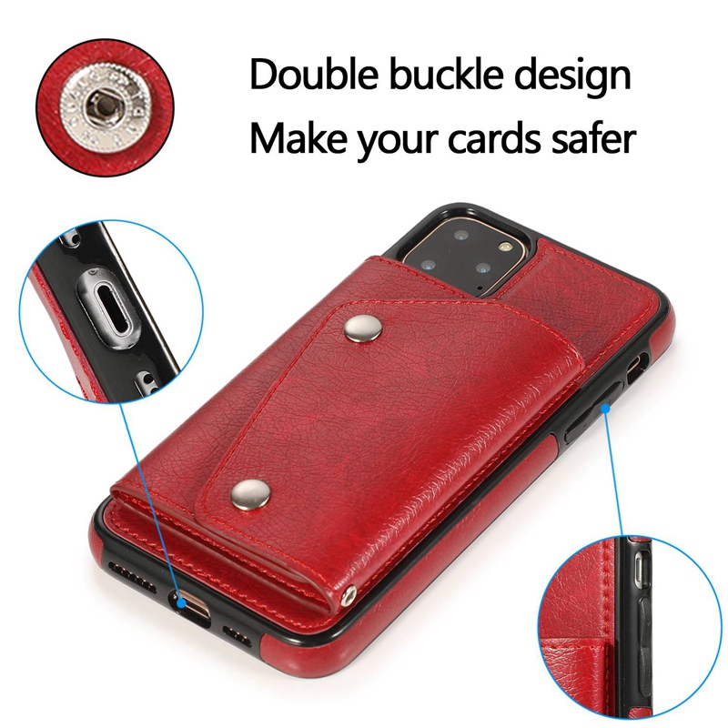 1X-pour-Iphone-11-Pro-Portefeuille-Pochette-en-Cuir-Fente-pour-Carte-de-Cre-P8H6 miniature 46