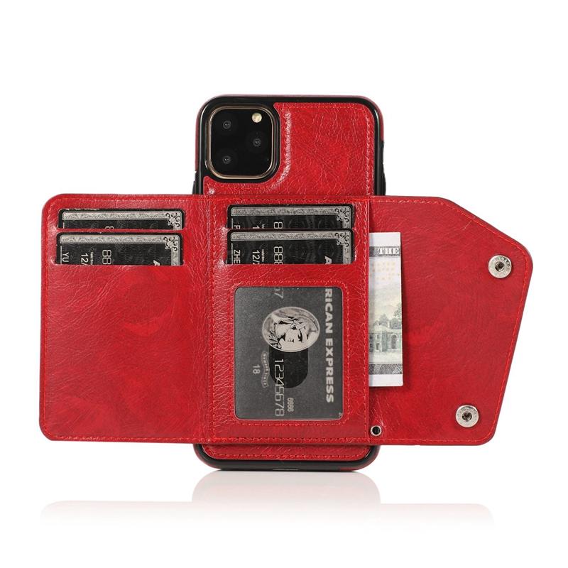 1X-pour-Iphone-11-Pro-Portefeuille-Pochette-en-Cuir-Fente-pour-Carte-de-Cre-P8H6 miniature 48
