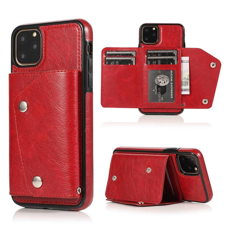 1X-pour-Iphone-11-Pro-Portefeuille-Pochette-en-Cuir-Fente-pour-Carte-de-Cre-P8H6 miniature 49