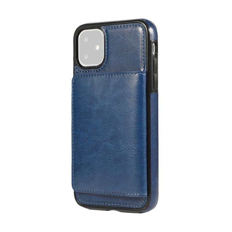 Indexbild 3 - fuer-Iphone-11-Pro-Leder-Tasche-Leder-Tasche-GeldboeRse-Karten-Steck-Platz-St-U6K5