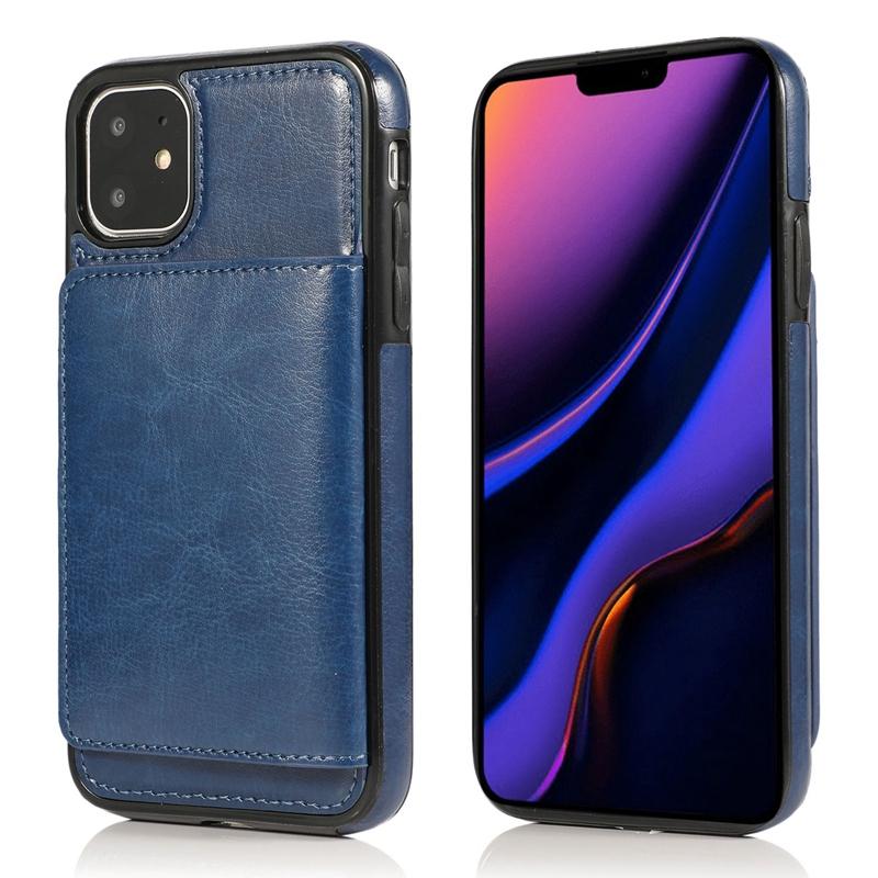 Indexbild 9 - fuer-Iphone-11-Pro-Leder-Tasche-Leder-Tasche-GeldboeRse-Karten-Steck-Platz-St-U6K5