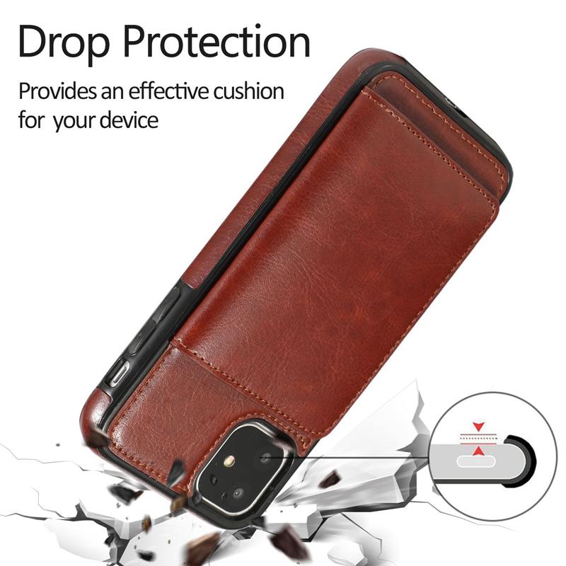 Indexbild 17 - fuer-Iphone-11-Pro-Leder-Tasche-Leder-Tasche-GeldboeRse-Karten-Steck-Platz-St-U6K5