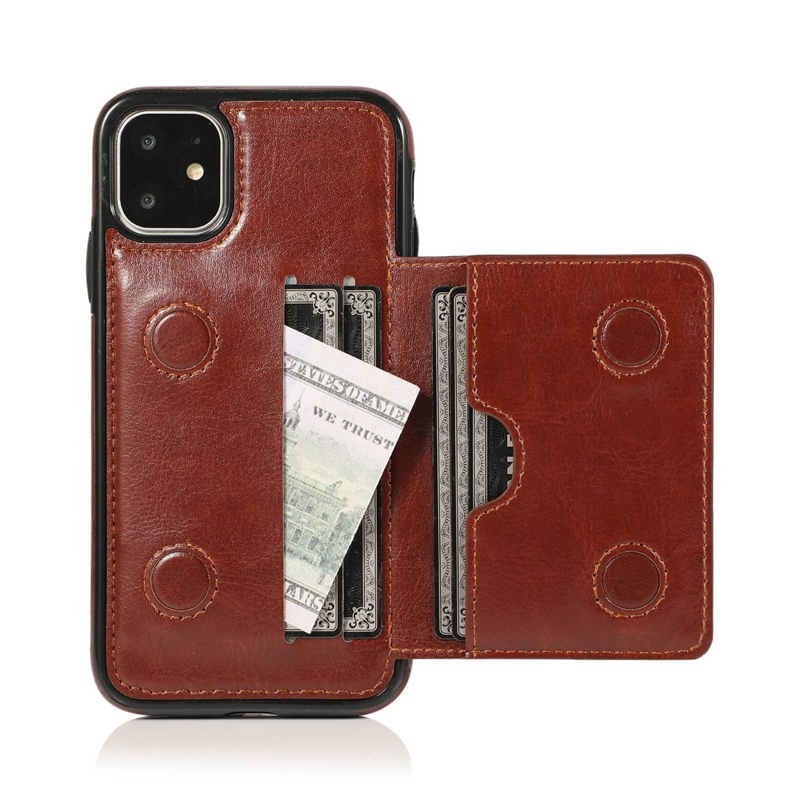 Indexbild 20 - fuer-Iphone-11-Pro-Leder-Tasche-Leder-Tasche-GeldboeRse-Karten-Steck-Platz-St-U6K5