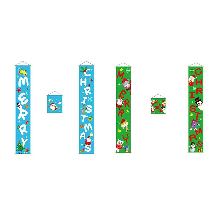 1X-Joyeux-NoeL-Porche-Signe-DeCoratif-de-Porte-BannieRe-DeCorations-de-NoeL-E6X4 miniature 11