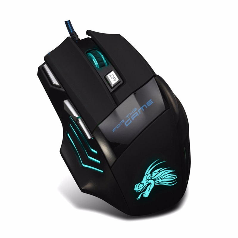 5500 DPI 7 Button LED Optical USB Wired Gaming Mouse Mice For Pro Gamer Trendy