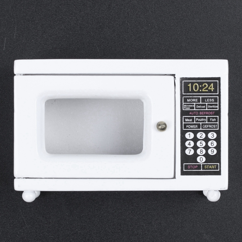 Microwave 1 12 Scale miniature for doll house white