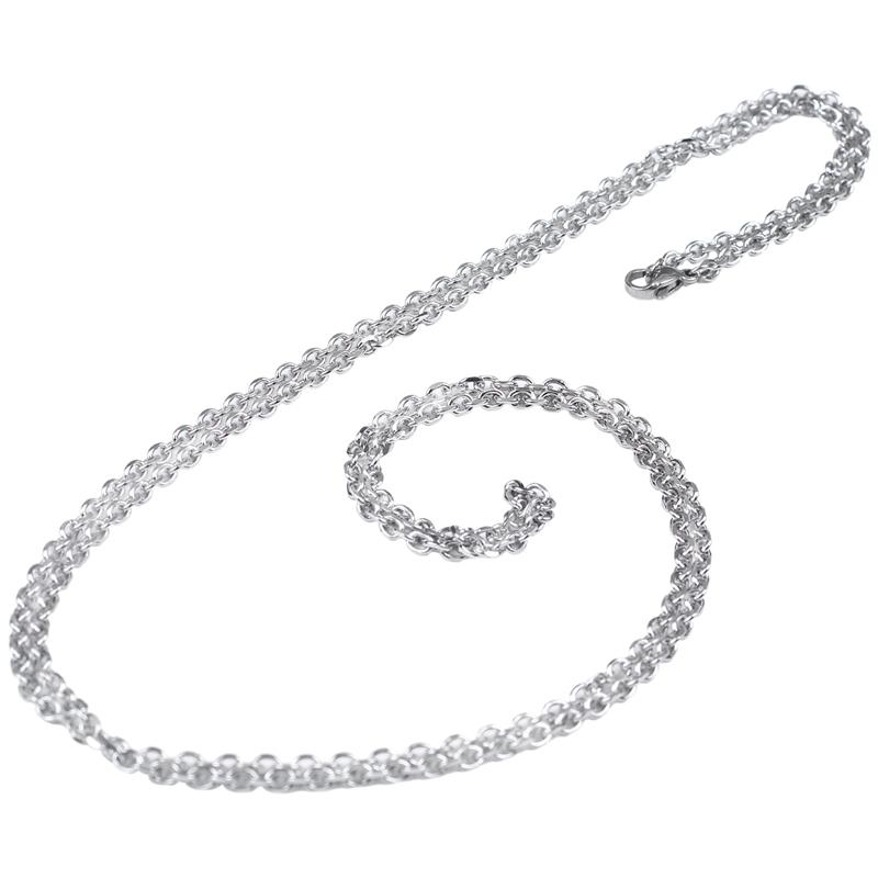 """Indexbild 41 - Schmuck Damen Kette,Edelstahl """"O"""" Halskette,Silber-Breite 2mm-Laenge 50cm W9X7"""