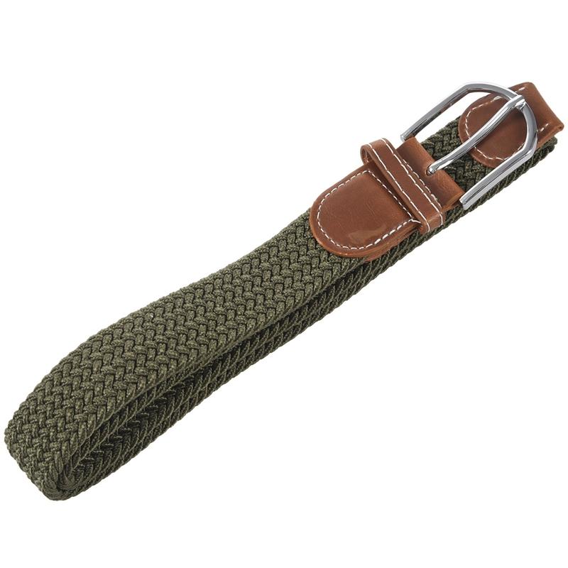2X-Man-Woman-Leather-Belts-Canvas-Belt-Buckle-Elastic-Waistband-Belt-Navy-Z2P7 Indexbild 11