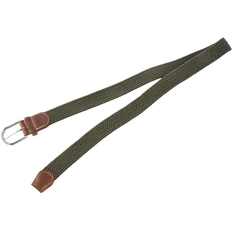 2X-Man-Woman-Leather-Belts-Canvas-Belt-Buckle-Elastic-Waistband-Belt-Navy-Z2P7 Indexbild 13