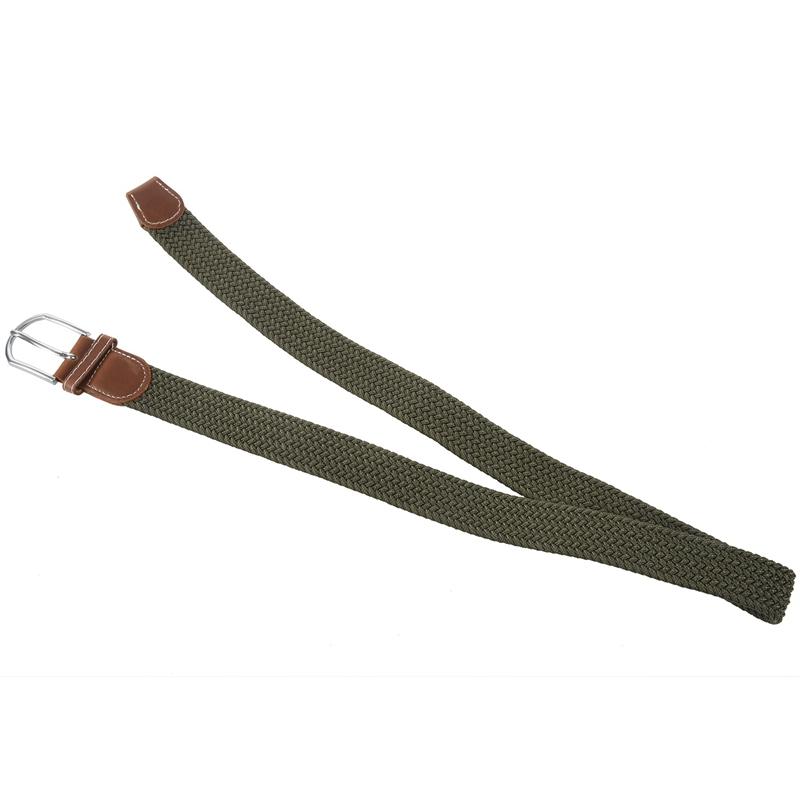 2X-Man-Woman-Leather-Belts-Canvas-Belt-Buckle-Elastic-Waistband-Belt-Navy-Z2P7 Indexbild 14