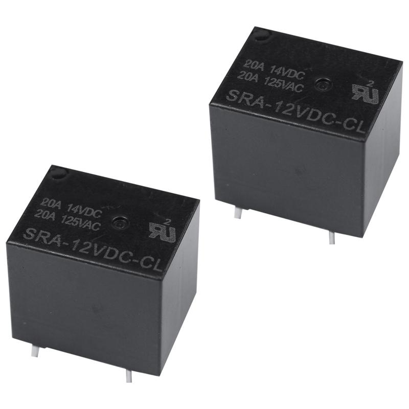 10PCS SRA-12VDC-CL DC 12 V Coil 20 A PCB General Purpose relais 5 broches inverseurs