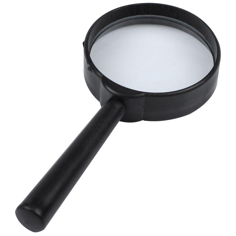 Black-plastic-5X-zoom-Hand-held-magnifying-glass-diameter-40MM-Black-plasti-M9G8 thumbnail 4