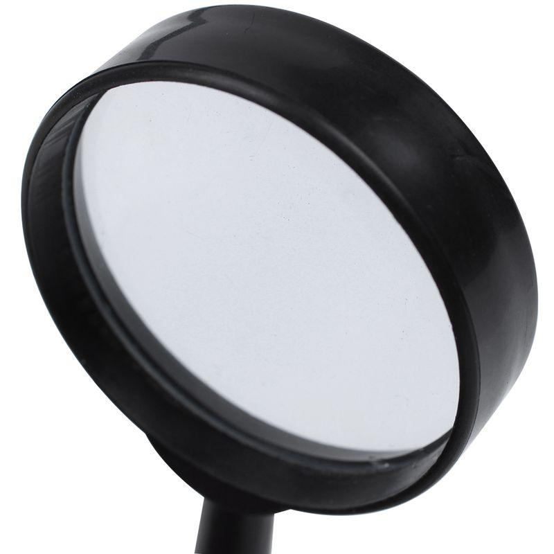 Black-plastic-5X-zoom-Hand-held-magnifying-glass-diameter-40MM-Black-plasti-M9G8 thumbnail 8