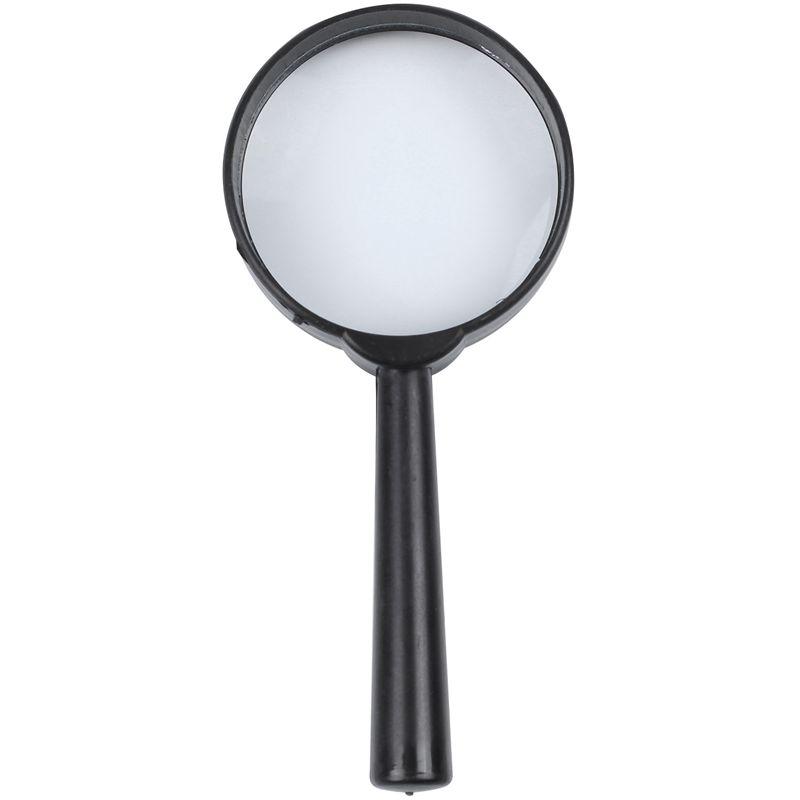Black-plastic-5X-zoom-Hand-held-magnifying-glass-diameter-40MM-Black-plasti-M9G8