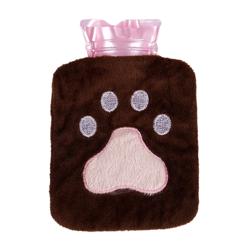 Mini Hot Water Bottle Plush Hand Warmer Winter Hot Water Bag (Offset O9G7