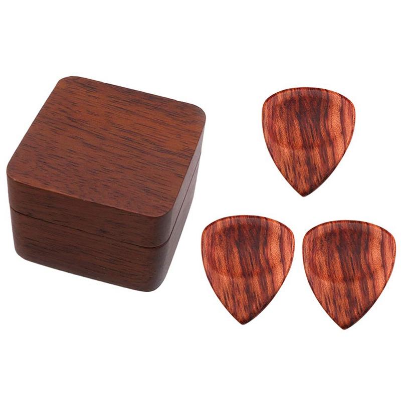 M/édiator Set guitare en bois m/édiators avec Picks Accessoires pour coffret de rangement Guitare Basse Banjo