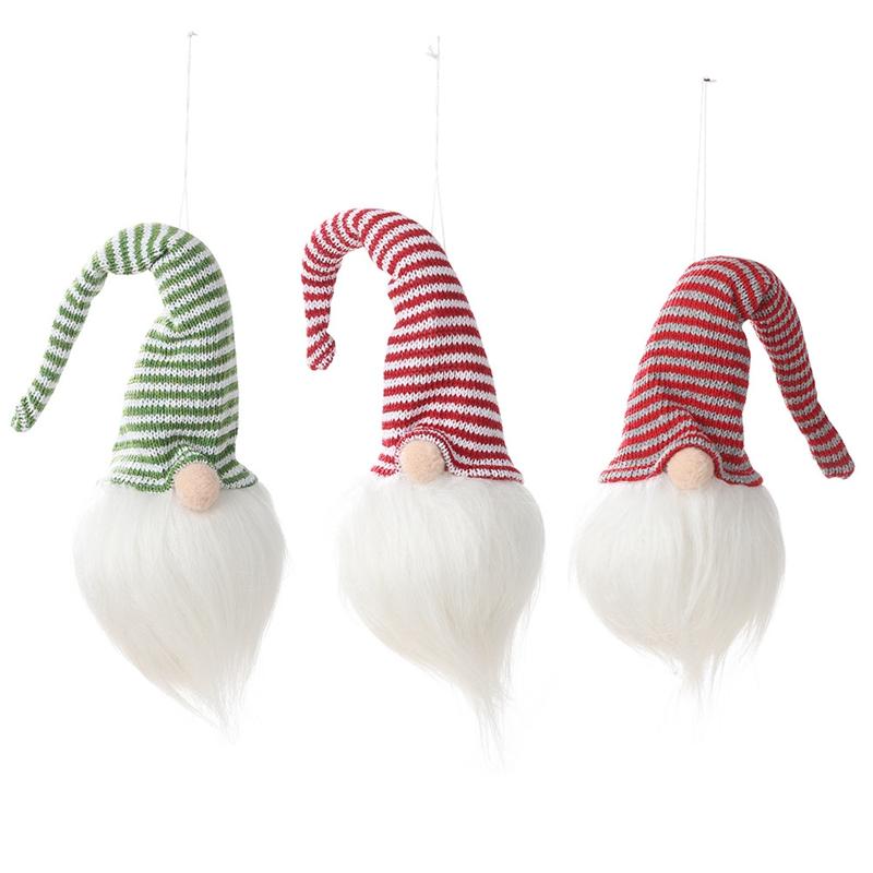 NoeL-LED-LumieRe-Cap-Raye-PoupeE-Sans-Visage-Petite-Figurine-Ornement-DeCor-L9A5 miniature 11