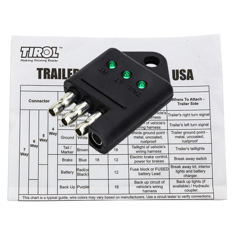 13-Pin Trailer Socket 13-Pole Socket 12V Towbar Towing Caravan Truck N Type D4D4