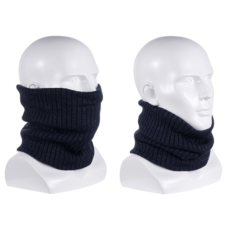 Outdoor-Neck-Warmer-Scarf-Soft-Double-Layer-Knitted-Fleece-Lined-Neck-GaiteJ7S8 thumbnail 3