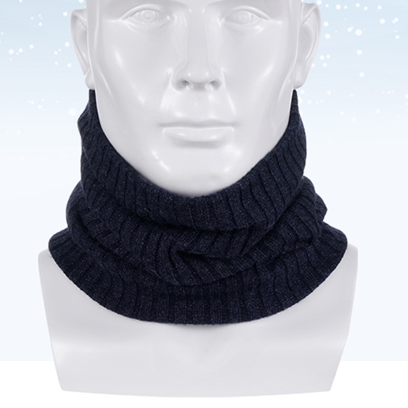 Outdoor-Neck-Warmer-Scarf-Soft-Double-Layer-Knitted-Fleece-Lined-Neck-GaiteJ7S8 thumbnail 4