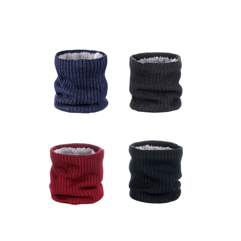 Outdoor-Neck-Warmer-Scarf-Soft-Double-Layer-Knitted-Fleece-Lined-Neck-GaiteJ7S8 thumbnail 11