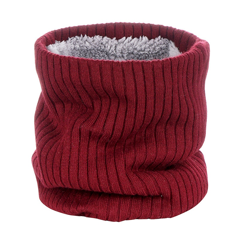 Outdoor-Neck-Warmer-Scarf-Soft-Double-Layer-Knitted-Fleece-Lined-Neck-GaiteJ7S8 thumbnail 12