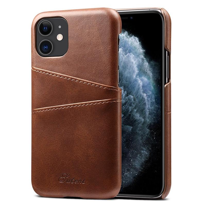 FueR-IPhone-Kartenetui-Brieftaschenetui-Aus-Leder-UltradueNner-Kreditkartene-C3U2 Indexbild 4