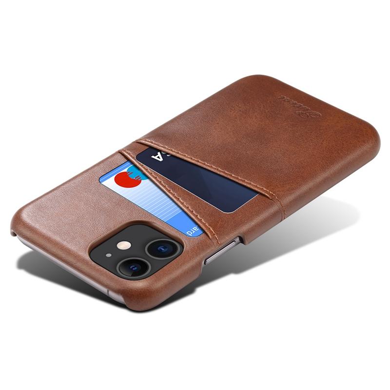 FueR-IPhone-Kartenetui-Brieftaschenetui-Aus-Leder-UltradueNner-Kreditkartene-C3U2 Indexbild 5