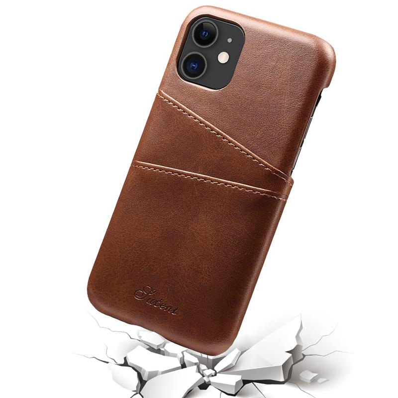 FueR-IPhone-Kartenetui-Brieftaschenetui-Aus-Leder-UltradueNner-Kreditkartene-C3U2 Indexbild 6