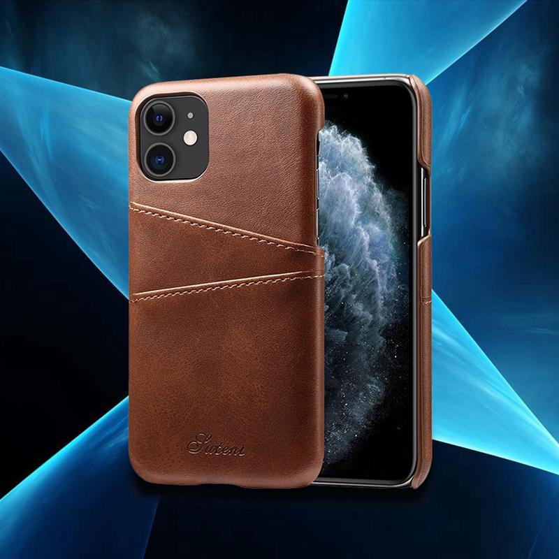 FueR-IPhone-Kartenetui-Brieftaschenetui-Aus-Leder-UltradueNner-Kreditkartene-C3U2 Indexbild 7