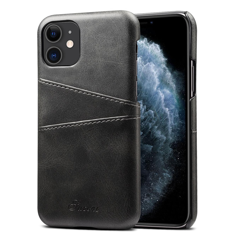 FueR-IPhone-Kartenetui-Brieftaschenetui-Aus-Leder-UltradueNner-Kreditkarteni-B3C5 Indexbild 4