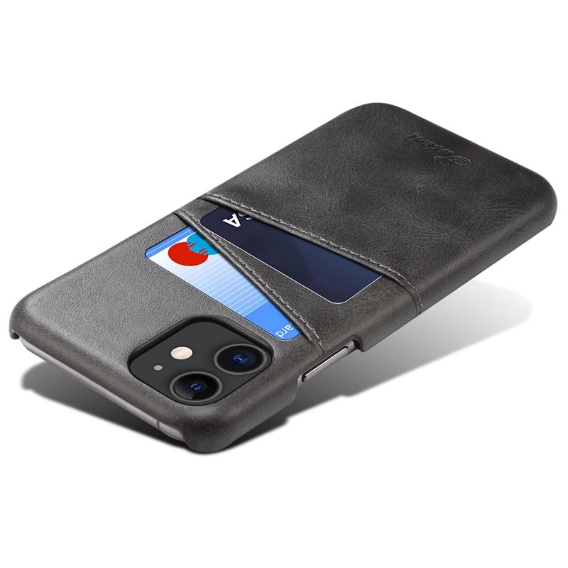 FueR-IPhone-Kartenetui-Brieftaschenetui-Aus-Leder-UltradueNner-Kreditkarteni-B3C5 Indexbild 5