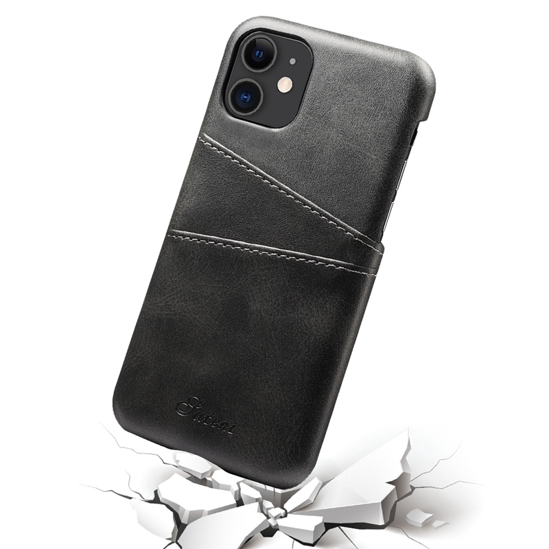 FueR-IPhone-Kartenetui-Brieftaschenetui-Aus-Leder-UltradueNner-Kreditkarteni-B3C5 Indexbild 6