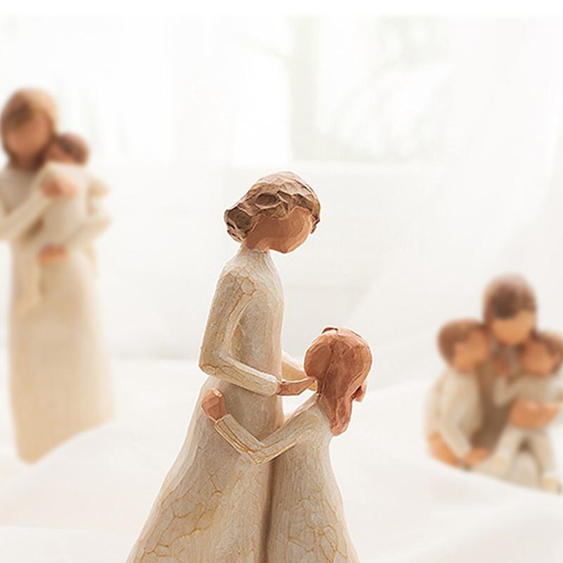 Nordische-Art-Liebe-Familien-FigueRchen-Harz-Miniatur-Haus-Dekoration-ZusaeTz-W2J4 Indexbild 4