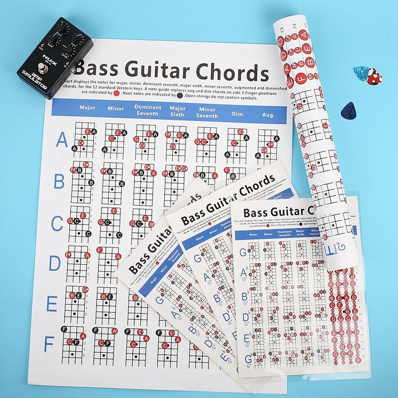 Electric-Bass-Guitar-Chord-Chart-4-String-Guitar-Chord-Fingering-Diagram-Ex-P4D8 thumbnail 11