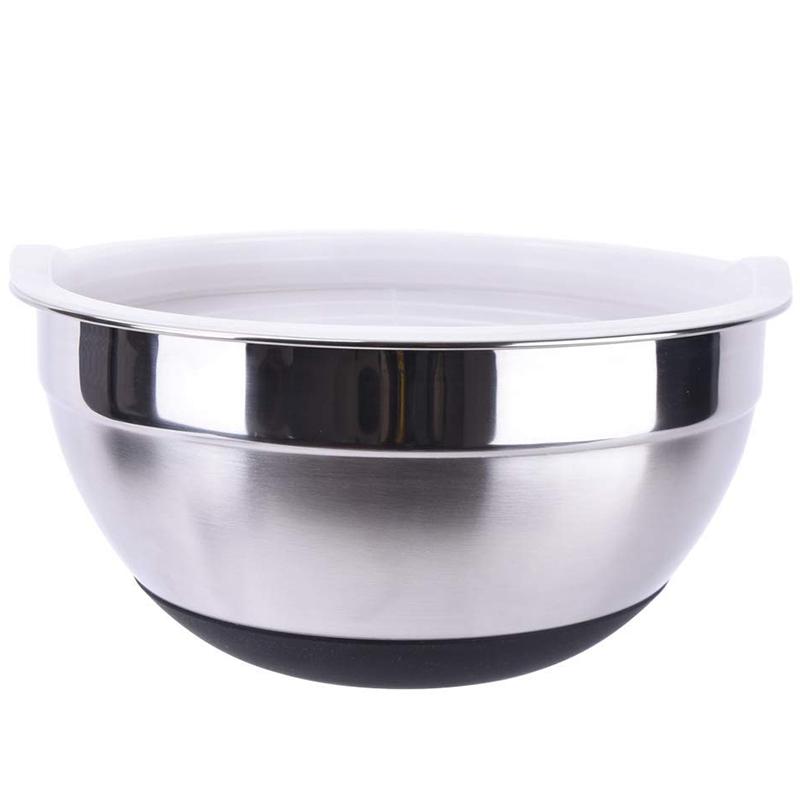 1X-Stainless-Steel-Mixing-Bowl-Ergonomic-Non-Slip-Silicone-Base-ProfessionaW7P5 thumbnail 3