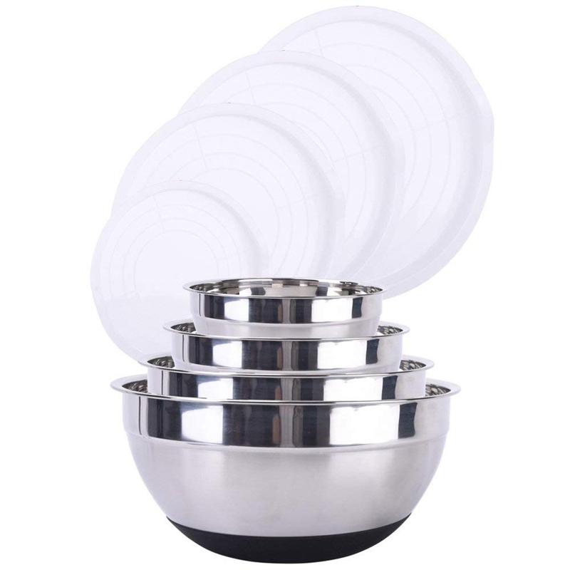 1X-Stainless-Steel-Mixing-Bowl-Ergonomic-Non-Slip-Silicone-Base-ProfessionaW7P5 thumbnail 5