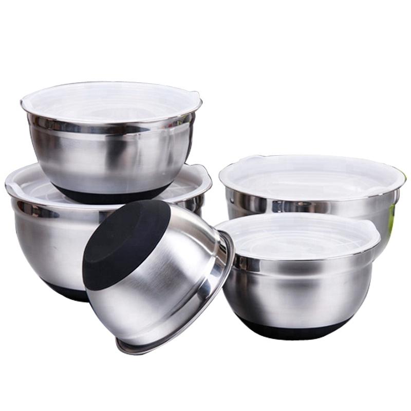 1X-Stainless-Steel-Mixing-Bowl-Ergonomic-Non-Slip-Silicone-Base-ProfessionaW7P5 thumbnail 9