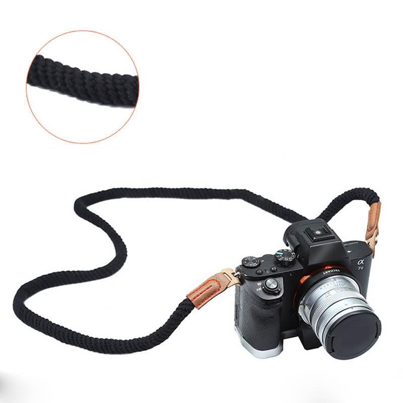 miniatura 6 - 100cm spalla elegante cotone Camera Neck Strap Belt per Mirrorless fotocame H1J4