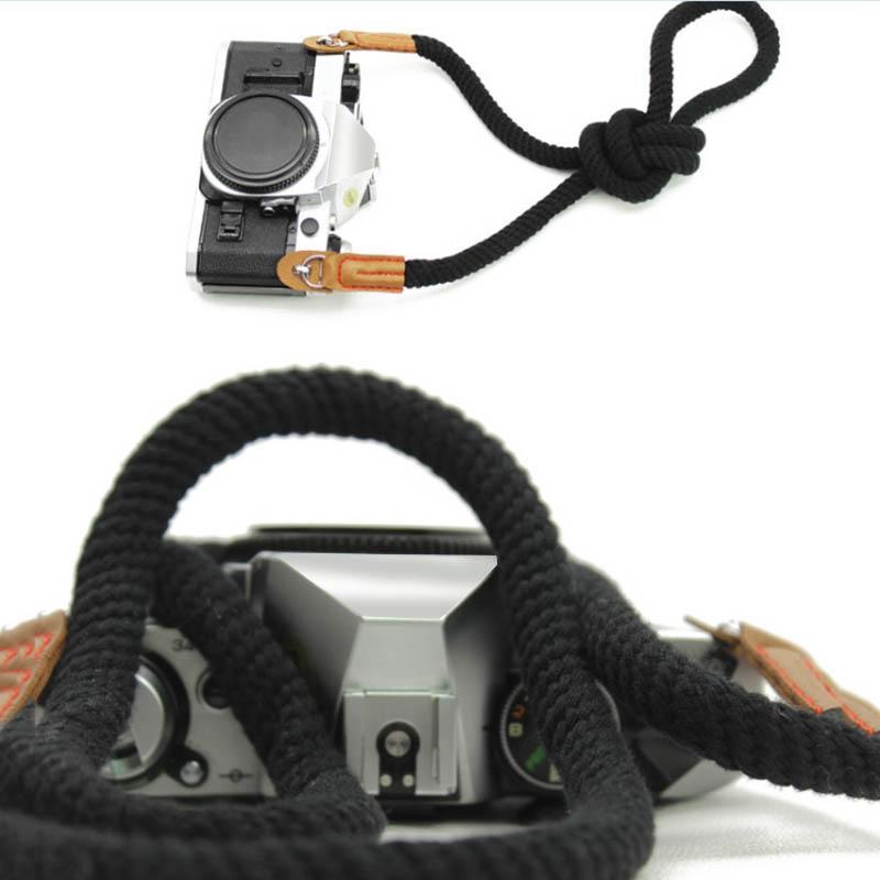 miniatura 8 - 100cm spalla elegante cotone Camera Neck Strap Belt per Mirrorless fotocame H1J4