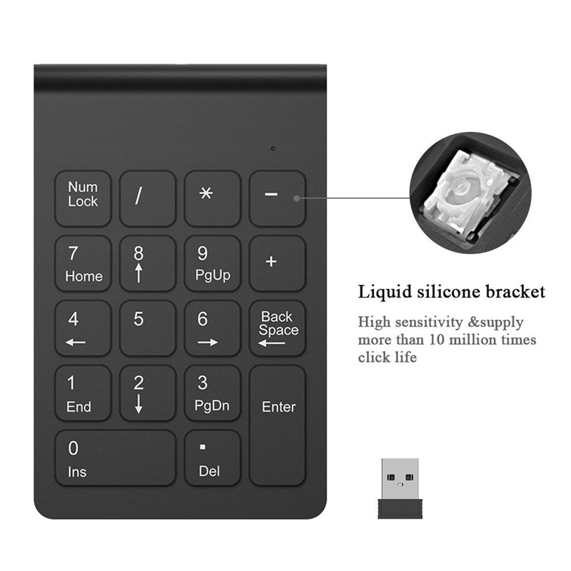 Wireless-2-4GHz-18-Keys-Number-Pad-Numeric-Keypad-Keyboard-for-Laptop-PC-amp-N3S9 thumbnail 11