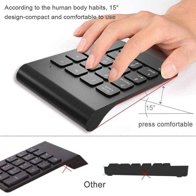 Wireless-2-4GHz-18-Keys-Number-Pad-Numeric-Keypad-Keyboard-for-Laptop-PC-amp-N3S9 thumbnail 13