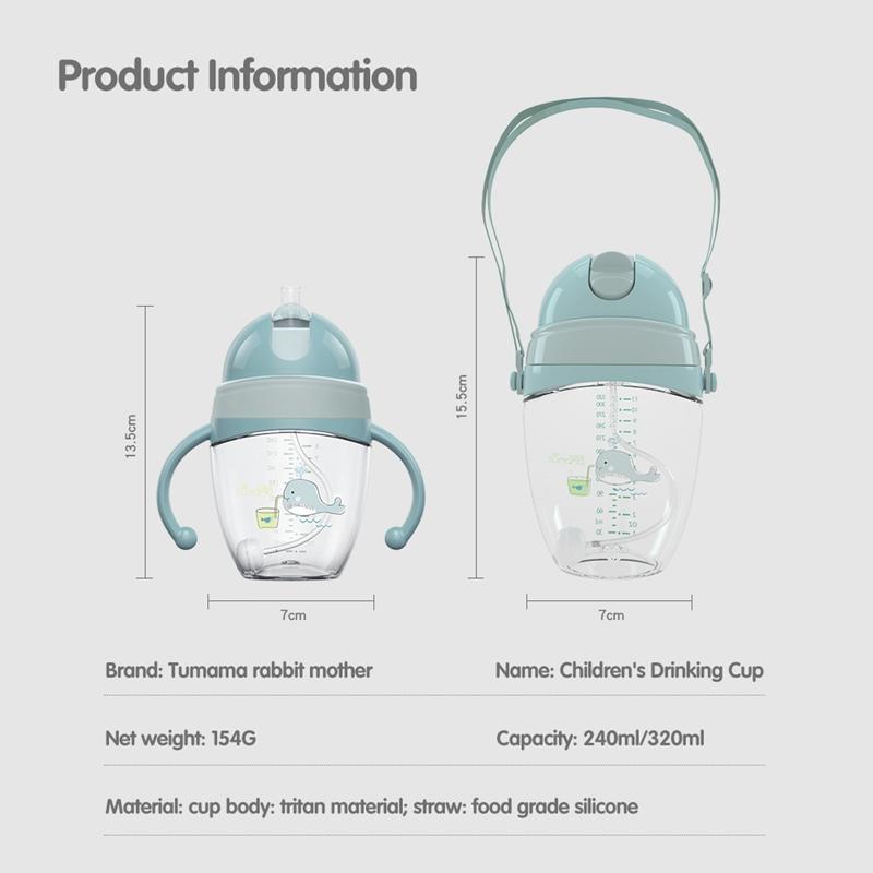 Baby-Babyflaschen-Tassen-Kinder-Wasser-Milchflasche-Weichen-Mund-Entenschna-K5Q4 Indexbild 3