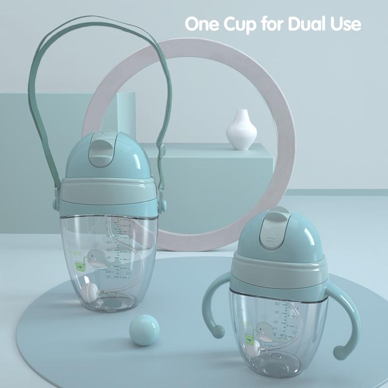 Baby-Babyflaschen-Tassen-Kinder-Wasser-Milchflasche-Weichen-Mund-Entenschna-K5Q4 Indexbild 21