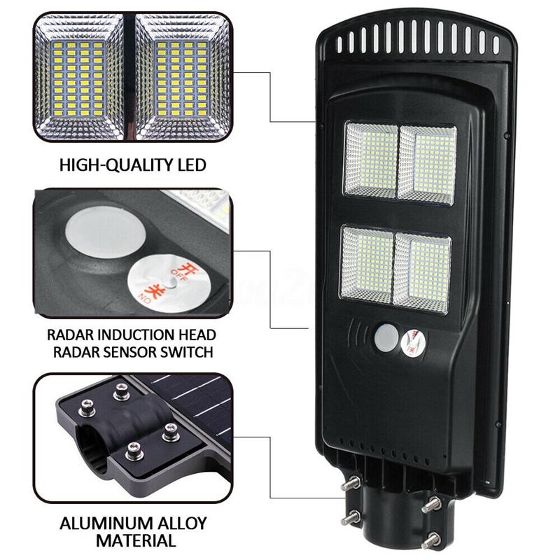 Solar-Wall-Street-Light-PIR-Sensor-de-Movimiento-LaMpara-de-Exterior-Cont-R3T8 miniatura 5
