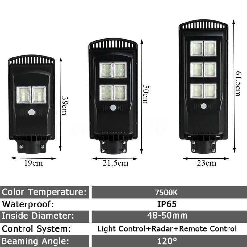 Solar-Wall-Street-Light-PIR-Sensor-de-Movimiento-LaMpara-de-Exterior-Cont-R3T8 miniatura 6