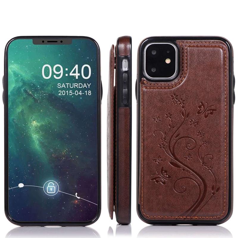 Indexbild 12 - fuer-Iphone-11-Case-fuer-Iphone-11-X-Xs-Xr-Abdeckung-MaeNner-Telefon-Brieftasc-B6O4